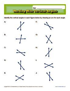 Vertical Angles Worksheet by Vertical Angles Worksheet Www Pixshark Images