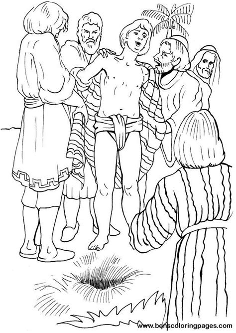 coloring pages for joseph 58 best joseph of jacob images on joseph
