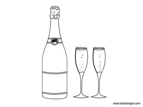 disegni bicchieri disegni capodanno bottiglia con bicchieri tuttodisegni