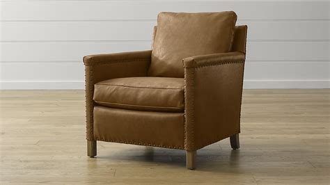 crate and barrel armchair trevor leather chair crate and barrel