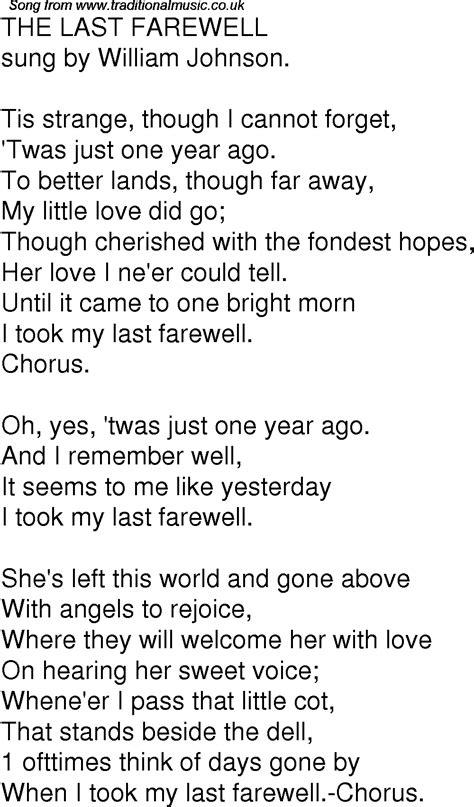 The Last American Lyrics Time Song Lyrics For 06 The Last Farewell