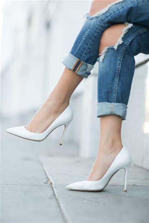 womens white high heels best 25 white pumps ideas on white heels