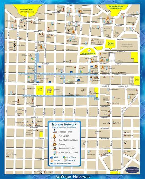 san jose nightlife map costa rica bachelor map parlors