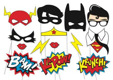 printable photo booth props batman superhero photo booth party props set 14 piece printable