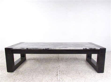 contemporary modern marble top cocktail table for sale at
