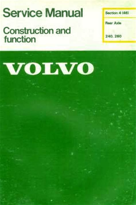 service repair manual free download 1993 volvo 240 navigation system volvo 240 260 service manual