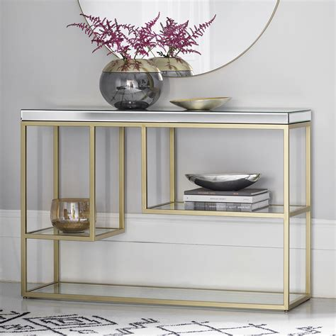 spring shopping my new gold mirrored table from build chagne gold mirrored console table primrose plum