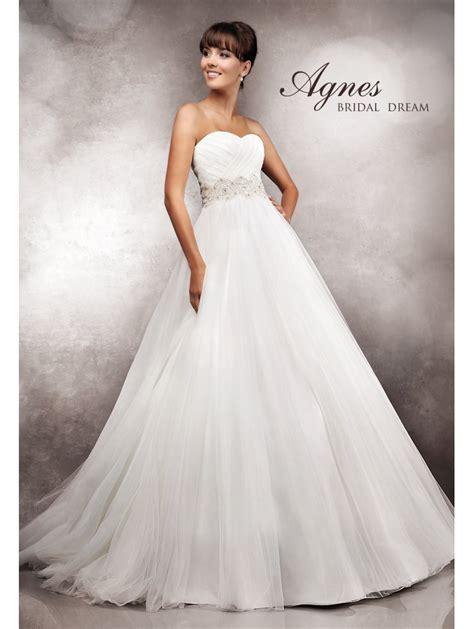 Wedding Dresses Skirt by Agnes 10750 Wedding Dress Soft Tulle Skirt Ivory