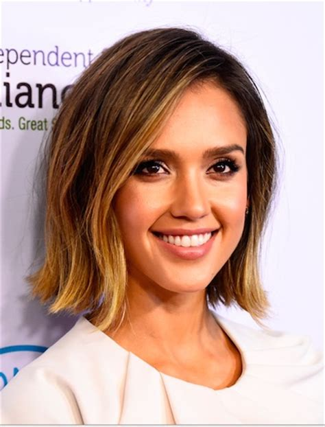 bob haircut jessica alba 20 star studded celebrity bobs hairstyle ideas for medium