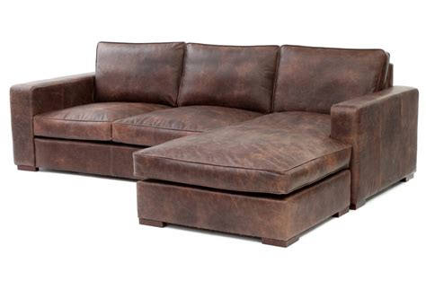 battersea chaise end grande vintage leather corner sofa from boot