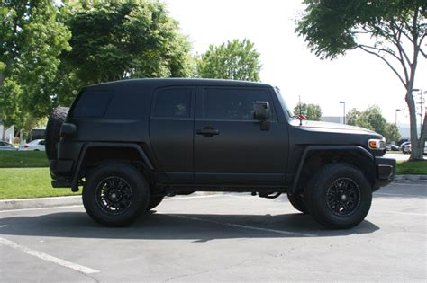 toyota cruiser black matte black vehicle wrap toyota fj cruiser