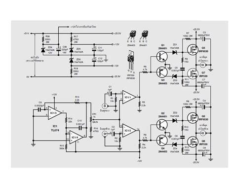 transistor lifier class d an interesting class d lifier design regulated 220v 2x60w electronics projects circuits