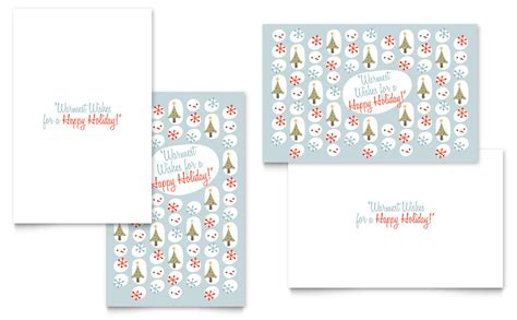 Happy Holidays Photo Card Template Free by Happy Holidays Greeting Card Template Word Publisher