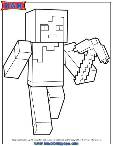 minecraft coloring pages steve with armor high resolution minecraft images colouring file name