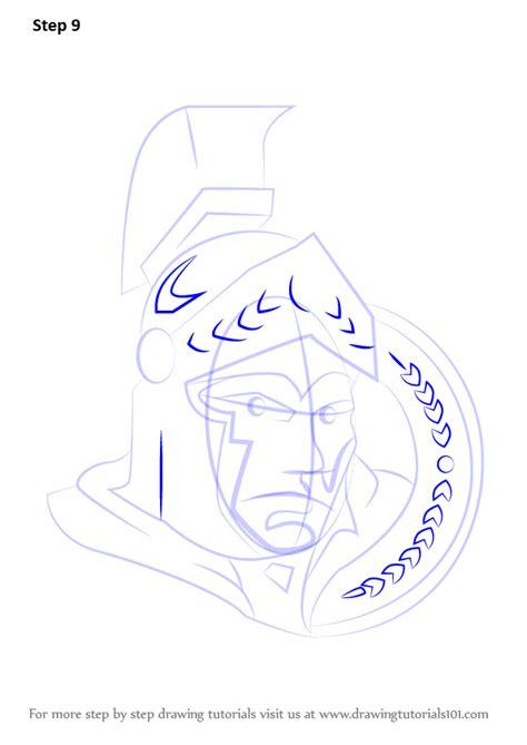 learn   draw ottawa senators logo nhl step  step