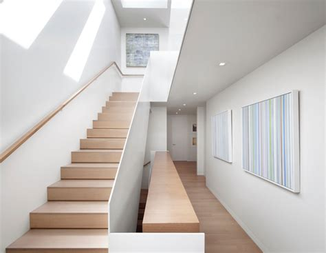 solid banister noe valley project san francisco modern staircase