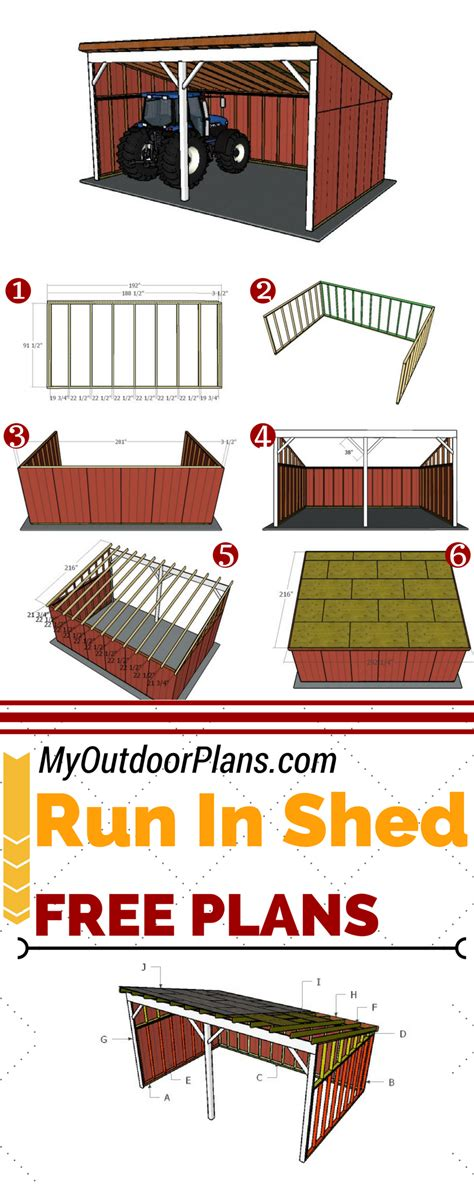 plans  building   run  shed  leafing