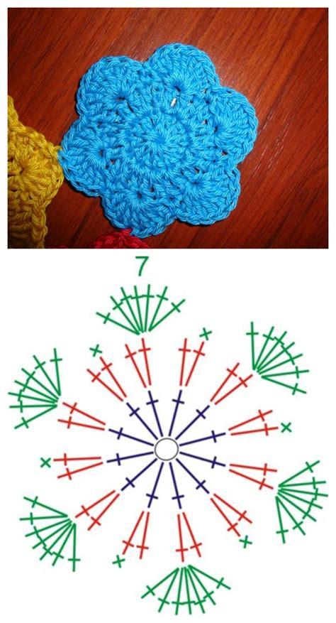 tutorial rajut bentuk love pola bunga rajut maya crafts
