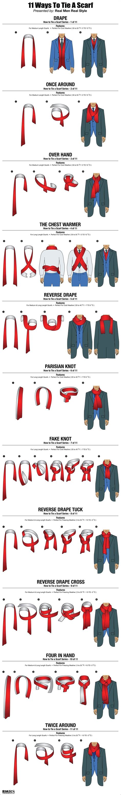 11 ways a guy can tie his scarf the huffington post how to wear a men s scarf foerstel creative results