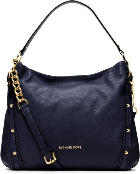 Marc Leigh Handbag by Michael Kors Michael Large Leigh Shoulder Bag In Blue