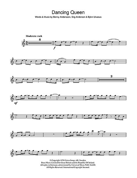Dancing Queen sheet music by ABBA (Violin – 47978)
