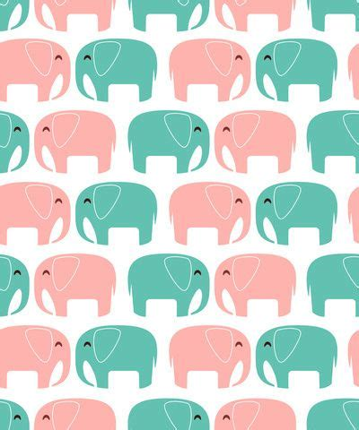 pattern elephant background elephant wallpaper cute animals blue pink green phone