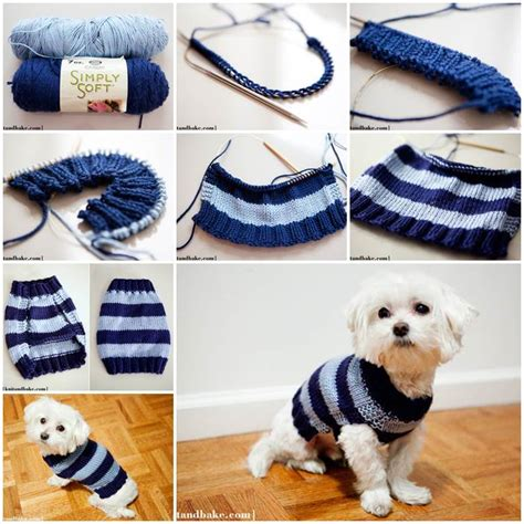 easy pattern for dog coat diy easy knitted dog sweater animals pinterest dog