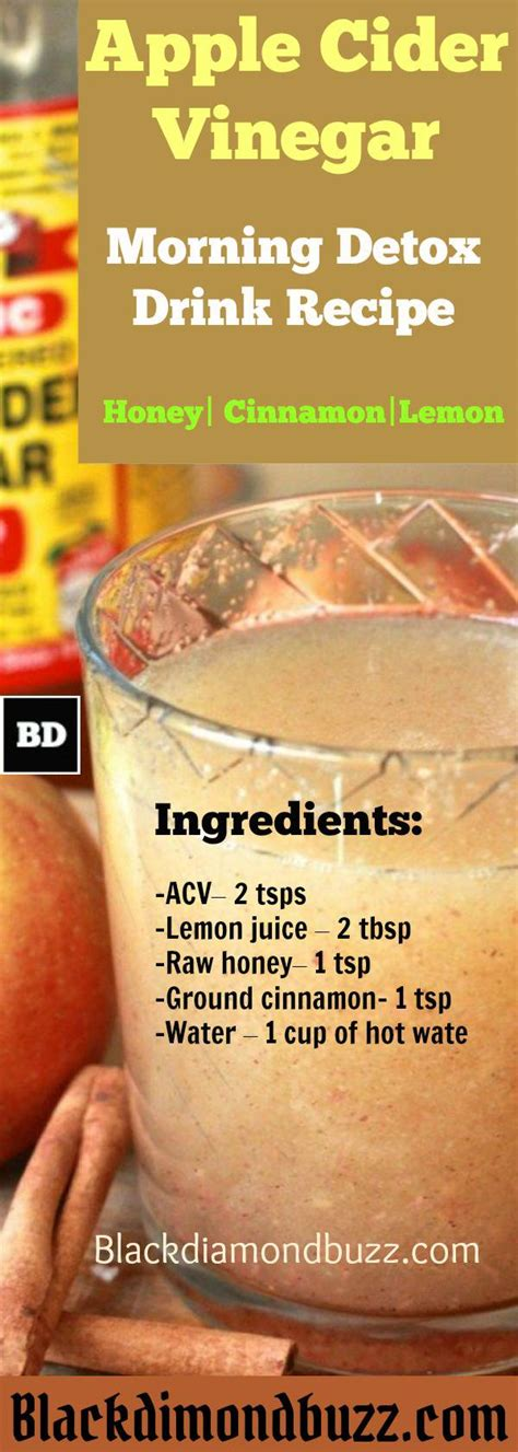 Dr Oz Detox Drink Apple Cider Vinegar by Burning Drink With Apple Cider Vinegar