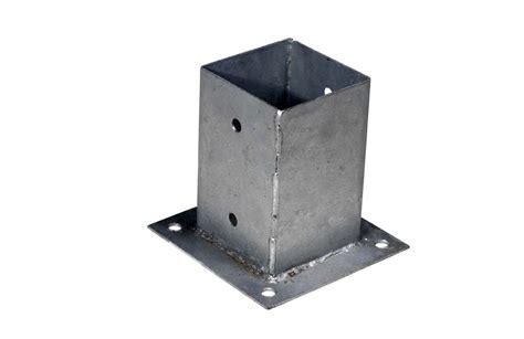 gamma paalhouder metalen paalhouder op plaat verschillende afmetingen