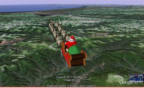 santa tracker   norad  google maps provide