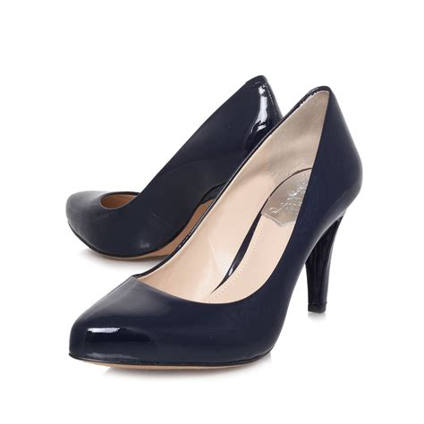 vince camuto blue shoes vince camuto kadri high heeled court shoes in blue navy
