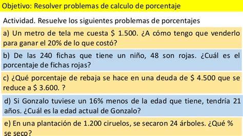 cuanto es el porcentaje de una liquidacion de trabajo ppt resolver problemas de porcentajes