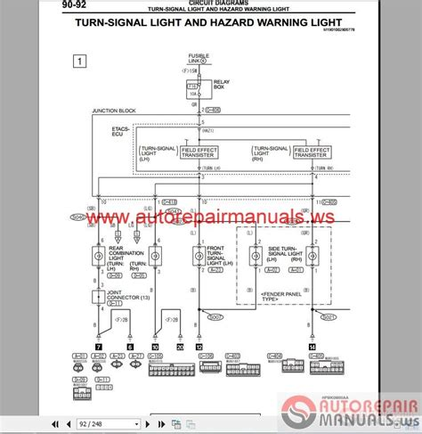 mitsubishi electrical diagrams mitsubishi wiring diagram