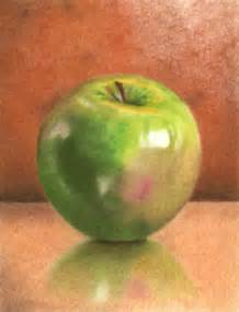 colored apple colored pencil drawings
