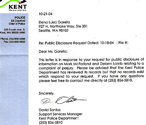 Nonprofit Acknowledgement Letter king county sheriff s office dave reichert seattle