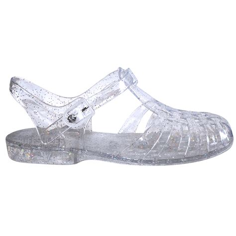 jellies shoes womens flat rubber retro 90s jelly buckle sandals