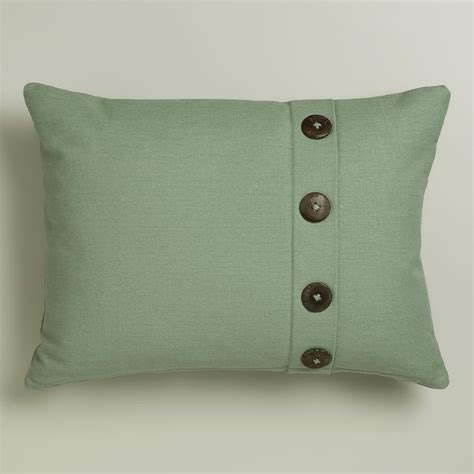 Pillows With Buttons by Wasabi Ribbed Lumbar Pillow With Buttons World Market