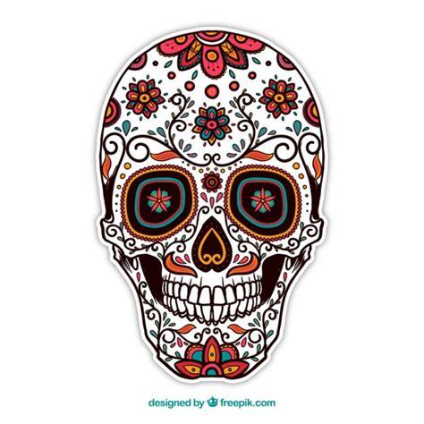 imagenes de calaveras sin color calavera de az 250 car ornamental descargar vectores gratis