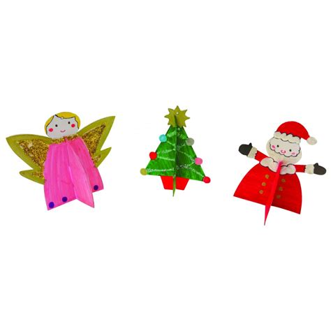 3d christmas decorations 3 pack angel tree star