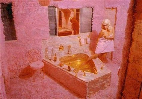 Pink In Bathtub by Jayne Mansfield S Pink Bathroom Featuring Pink Shag