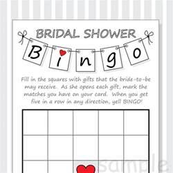 diy bridal shower bingo printable cards pennant design