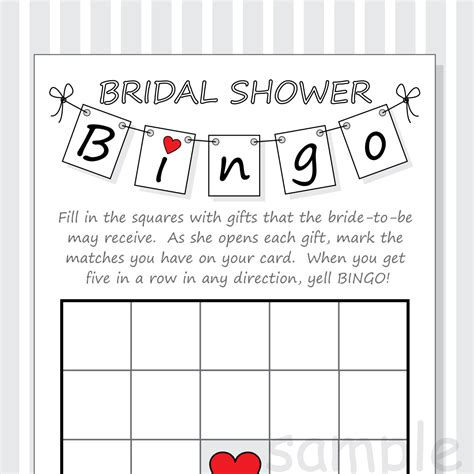 Blank Bingo Card Template For Bridal Shower by Diy Bridal Shower Bingo Printable Cards Pennant Design