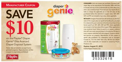 printable coupons for diaper genie refills pin playtex diaper genie ii refill coupons page 2 on pinterest