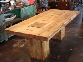 Rustic Wood Dining Room Tables Rustic Block Acacia Wood Dining Table At 1stdibs