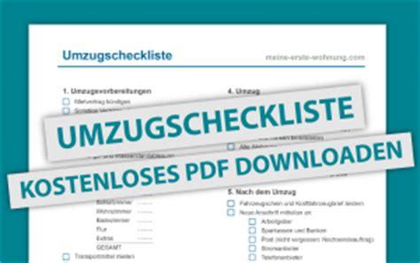 checkliste für die erste eigene wohnung checkliste f 252 r den umzug die erste eigene wohnung