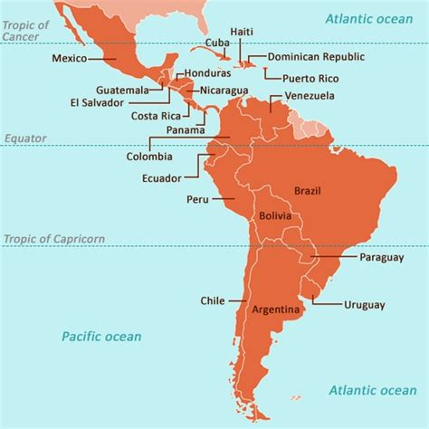 map of countries and capitals of south america a complete list of american countries with their