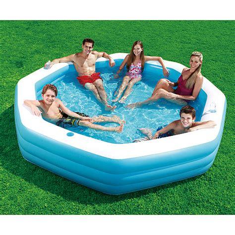 backyard swimming pools walmart 9 2 quot x 9 2 quot octagonal inflatable swimming pool walmart com