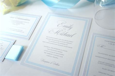 light blue wedding invitations 25 best ideas about grey wedding invitations on