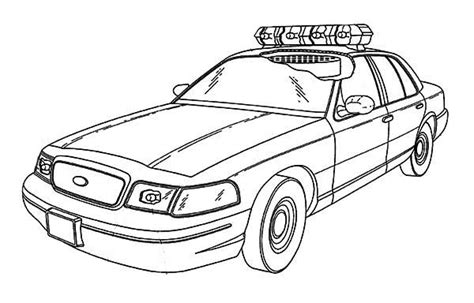 coloring pages cop cars coloring pages the policeman the car and the