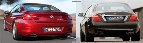 angle cls woodworking photo comparison mercedes cl vs 2012 bmw 6 series coupe